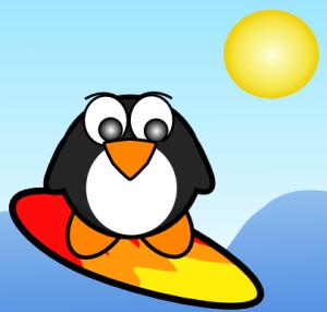 Surfing Penguin