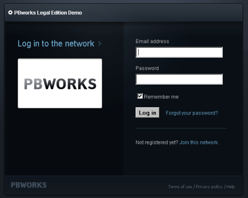 Network Access screen