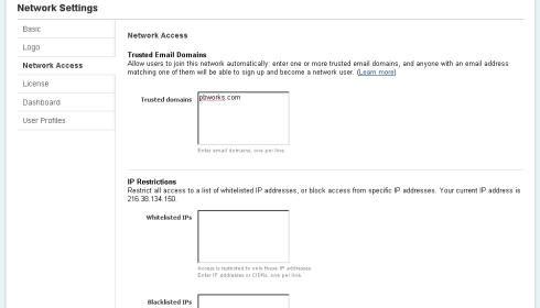 Network Access Settings