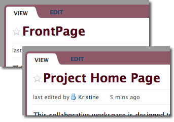 page name change